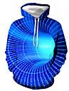 Herre Plusstørrelser Pullover-hættetrøje Grafisk Hætte Daglig I-byen-tøj Afslappet Hættetrøjer Sweatshirts Blå Lilla Gul