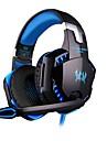kotion each g2000 gaming headset fone de ouvido de baixo de som de 7.1 canais LED pacote de controle em linha com fone de ouvido e adaptador de microfone para computador desktop