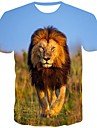 Men\'s T shirt Shirt Graphic Print Short Sleeve Daily Tops Streetwear Round Neck Brown