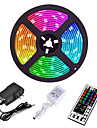 5M 300 x 2835 8mm Lights LED Strip Lights RGB Tiktok Lights Flexible and IR 44Key Remote Control Linkable Self-adhesive Color-Changing