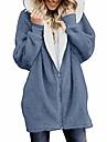 여성용 테디 코트 일상 가을 겨울 봄 보통 코트 보통 활동적 자켓 긴 소매 솔리드 접착 데님 블루 핑크 다크 그레이
