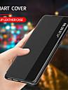 capa de telefone de couro com flip smart view para huawei p40 p40 pro p30 p30 pro