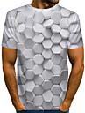 בגדי ריקוד גברים חולצה קצרה חולצה גראפי הדפסת 3D דפוס שרוולים קצרים יומי צמרות בסיסי מוּגזָם צווארון עגול לבן