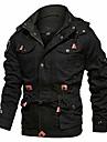 Men\'s Jacket Solid Colored ArmyGreen Black khaki M L XL