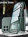 Capinha Para Apple iPhone 12 / iPhone 12 Mini / iPhone 12 Pro Max Flip / Magnetica Capa Protecao Completa Solido Vidro Temperado / Metal