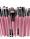 lavany 20pcs make up brushes set,long handle makeup brush set tools make-up toiletry kit wool make up brush set clearence & #40;pink& #41;