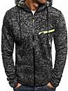 férfi divat cipzáras sport kapucnis - sportos pulóverek alkalmi vékony kabátok us XL XL sötétszürke