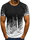 Herre Unisex T-Shirts T-shirt Skjorte 3D-udskrivning Geometrisk Plusstørrelser Kortærmet Toppe Gade Militærgrøn Hvid Blå