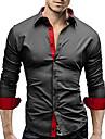 Men\'s Shirt Long Sleeve Tops Streetwear Black And White Sapphire Navy
