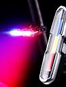 Luces para bicicleta Luz Trasera para Bicicleta luces de seguridad Bicicleta Ciclismo Impermeable Modos multiples Super brillante Portatil 15/10 lm Recargable USB Blanco Rojo Azul / Soltado Rapido