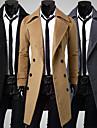 Men\'s Winter Coat Solid Color Daily Long Sleeve Black khaki Gray M L XL