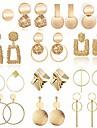 10 pairs statement drop dangle earrings, fashion big geometric earrings for women & gold stud hoops earrings for girls, hanging earring set jewelry gifts