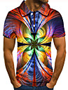 Men\'s Polo 3D Print Graphic Print Short Sleeve Daily Tops Basic Rainbow