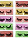3D False Eyelashes 10 Pairs Base Card Natural Thick Eyelashes Cosmetic Grooming Supplies Party Halloween