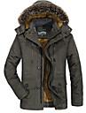 men\'s winter jackets warm coat thermal fleece wool lined jackets with zipper pockets black