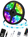 LED Strip Lights 5m RGB Color Changing Lighting Strip Tape Lights 300 LED 2835 Strip Rope Light with 44 Keys Remote Control Dimmable Mood Lighting for Home TV Kitchen DIY Decoration