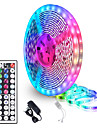 5 Meters Waterproof Flexible LED Light Strips 90x5050 RGB SMD LEDs IR 44 Key Controller with Installation Package and 12V Adapter Kit