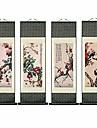 ウォールアート-中国の風景水墨画の家の装飾の絵画と掛かる芸術、壁の巻物、版画、秋の山川の美しい風景、滝