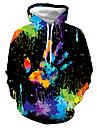 Férfi Pulóver kapucnis pulóver Grafika Kapucni Napi Klub 3D nyomtatás Alkalmi Pulcsik Pulóverek Hosszú ujj Fekete