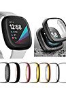 Anti Ultra thin Electroplated Soft TPU Case Full Cover Screen Protector Watch Accessories Shell for Fitbit Versa 3 Fitbit Sense