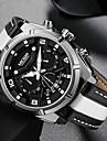 men\'s casual chronograph quartz watches fashion leather strap luminous hands watch man luxury military sports wristwatch white