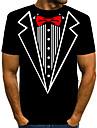 Per uomo maglietta Camicia Stampa 3D Pop art Con stampe Manica corta Quotidiano Top Essenziale Esagerato Rotonda Nero