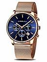 men watch fashion business chronograph waterproof watch with mesh srtap rose blue litbwat