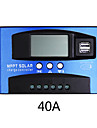 40A MPPT Solar Charge Controller Dual USB LCD Display Auto Solar Cell Panel Charger Regulator Charge