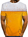 Men\'s T shirt Shirt 3D Print Graphic Beer Print Short Sleeve Daily Tops Streetwear Round Neck White Red Yellow