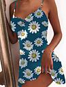 Women\'s Strap Dress Short Mini Dress Blue White Black Red Sleeveless Floral Graphic Prints Floral Print Summer V Neck Basic 2021 XS S M L XL 2XL