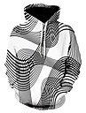 Nuevo jersey para hombre 3d digital vortex impreso sudadera creativo otono invierno con capucha blusa de manga larga& # 40; xxxl, negro& # 41;