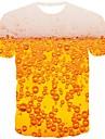Herre T-shirt Skjorte 3D-udskrivning Grafisk -l Trykt mønster Kortærmet Daglig Toppe Gade Rund hals Orange