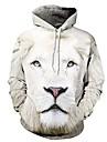 párok állat nyomtatott hosszú ujjú kenguru zsebes pulóver oroszlán xl
