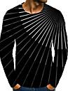 T-shirt Homme 3D effet Graphique 3D Grandes Tailles 1 pc Imprime Manches Longues Quotidien Vacances Standard Polyester Elegant Exagere Col Rond