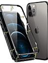 Capinha Para Apple iPhone 12 / iPhone 12 Mini / iPhone 12 Pro Max Magnetica Capa Protecao Completa Solido Vidro Temperado / Metal