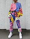 Dámské Základní Batikované Dvoudílná sada Mikina Tepláková souprava Kalhoty Společenské oblečení Běžecké kalhoty Šňůrky Slátanina Topy