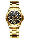 gold men\'s luxury wrist watches for man,black face stainless steel classic business golden series watch