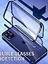 estojo magnetico para apple iphone 12 / iphone 12 mini / iphone 12 pro max estojo a prova de choque / transparente de corpo inteiro de metal transparente