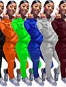 女性用 2個 フルジップ トラックスーツ スウェットスーツ ストリート アスレイジャー 2個 冬 長袖 保温 高通気性 ソフト フィットネス ジムトレーニング ランニング ジョギング しつけ用品 スポーツウェア ソリッド 標準 パーカー トラックパンツ ブラック バーガンディー ブルー グレー オレンジ グリーン アクティブウェア マイクロエラスティック