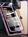 estojo para iphone 12/12 mini / 12 pro max a prova de choque / flip / transparente de corpo inteiro estojo transparente / vidro temperado de cor solida / metalico / com embalagem estojo para iphone