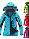 Women\'s Hiking 3-in-1 Jackets Hiking Jacket Winter Outdoor Thermal / Warm Waterproof Windproof Breathable Fleece 3-in-1 Jacket Top Red Fuchsia Green Light Sky Blue Skiing Camping / Hiking Hunting S M