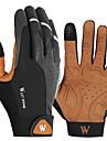 Cyklistické rukavice Dotykové rukavice Reflexní Prodyšné Nositelný Protiskluzový povrch Celý prst Akvitita a sport Lycra černá / žlutá pro Dospělé Cyklistika / Kolo Rukavice na sport a akvititu
