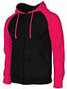 Chaqueta con capucha y cremallera completa informal de polar de manga larga raglan para hombre rosa-xl (asia-xxxl)