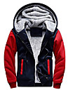 мужская зимняя толстая толстовка с капюшоном на молнии на подкладке из шерпы (l, темно-красный)