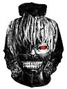 Inspirado por Tokyo Ghoul Kaneki Ken Fantasias de Cosplay Moletom Tecido Felpudo 3D Estampado Moletom Para Homens / Mulheres