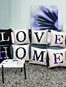Pillowcase with LED Luminous Letters Pillow Cushion Cover for Christmas Gift Home Sofa Office Café Pillow Decoration 45x45cm