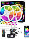 LED Strip Lights Smart RGB Strip 20M 10M Music Sync 5050 65.6ft and 32.8ft Color Changing Strips Bluetooth APP Control with Remote for Bedroom Room TV Party and 12V Power Supply and Mounting Bracket