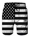 Mens drapeau americain etoile srtipe short de plage imprime 3d 4 juillet vetements ete casual board shorts xl