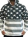 ライセンスマートユニセックス自慢のアメリカンフラッグプルオーバーパーカースウェットシャツ4017グレー/ホワイトm
