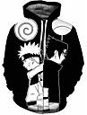 Inspirado por Naruto Uzumaki Naruto Fantasias de Cosplay Moletom Tecido Felpudo 3D Estampado Moletom Para Homens / Mulheres